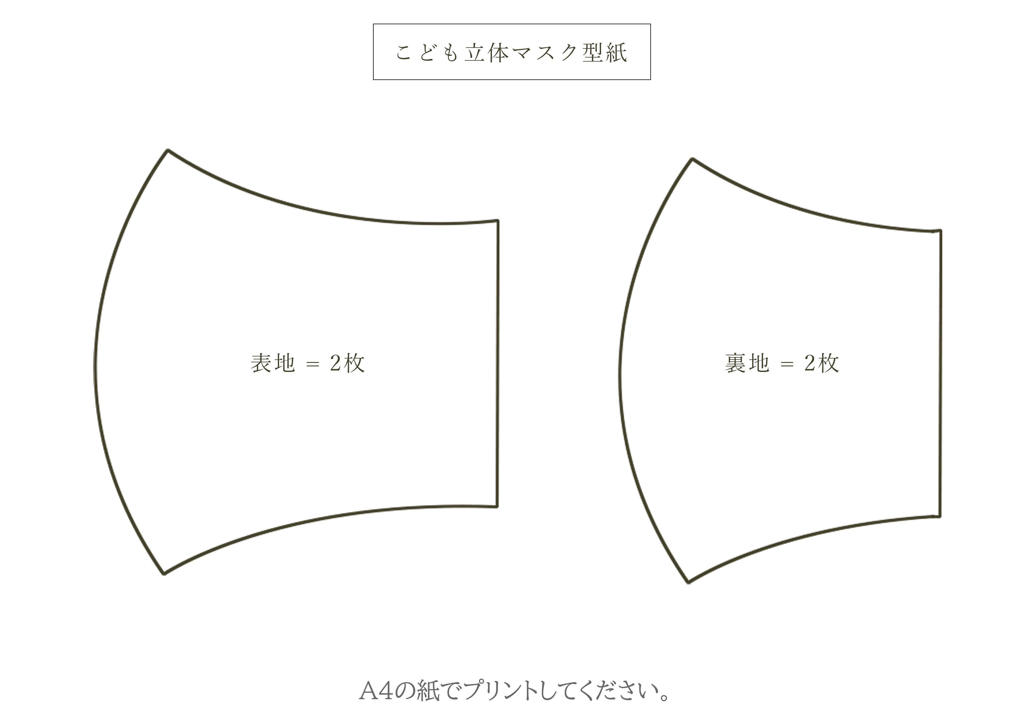 型紙 簡単 の マスク